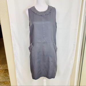 LOFT Ann Taylor Gray Colton Sheath Shift Dress 12